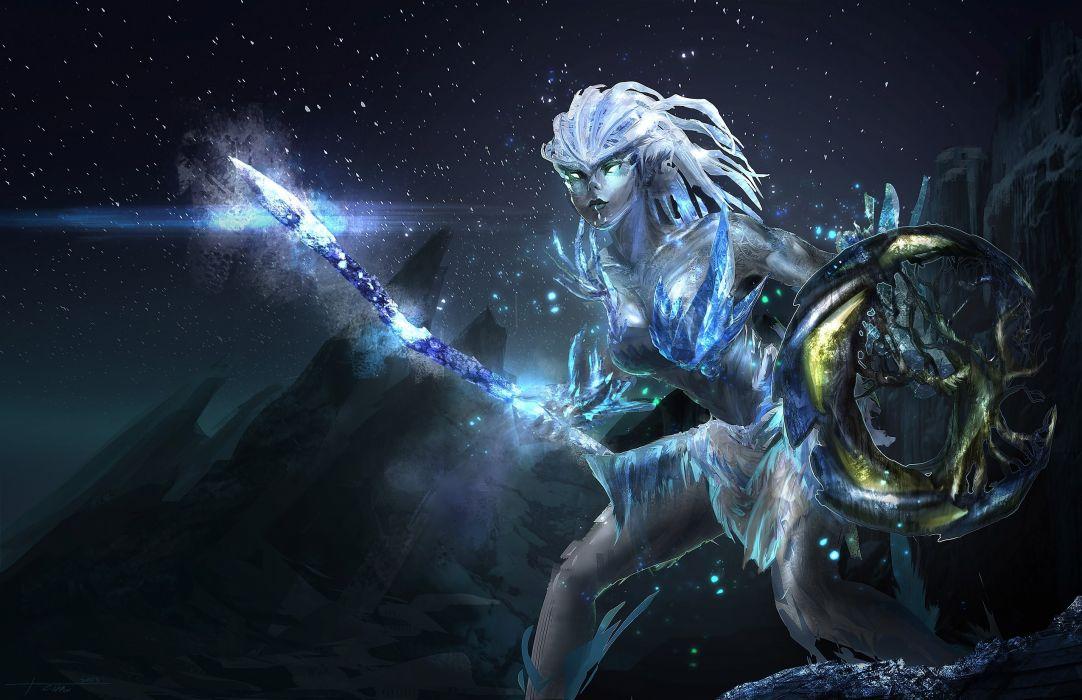 Fantasy Art Ice Warrior