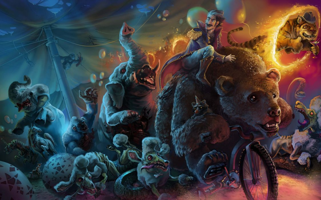 Magical animals Monster Fantasy Animal bear humor funny dark creature wallpaper