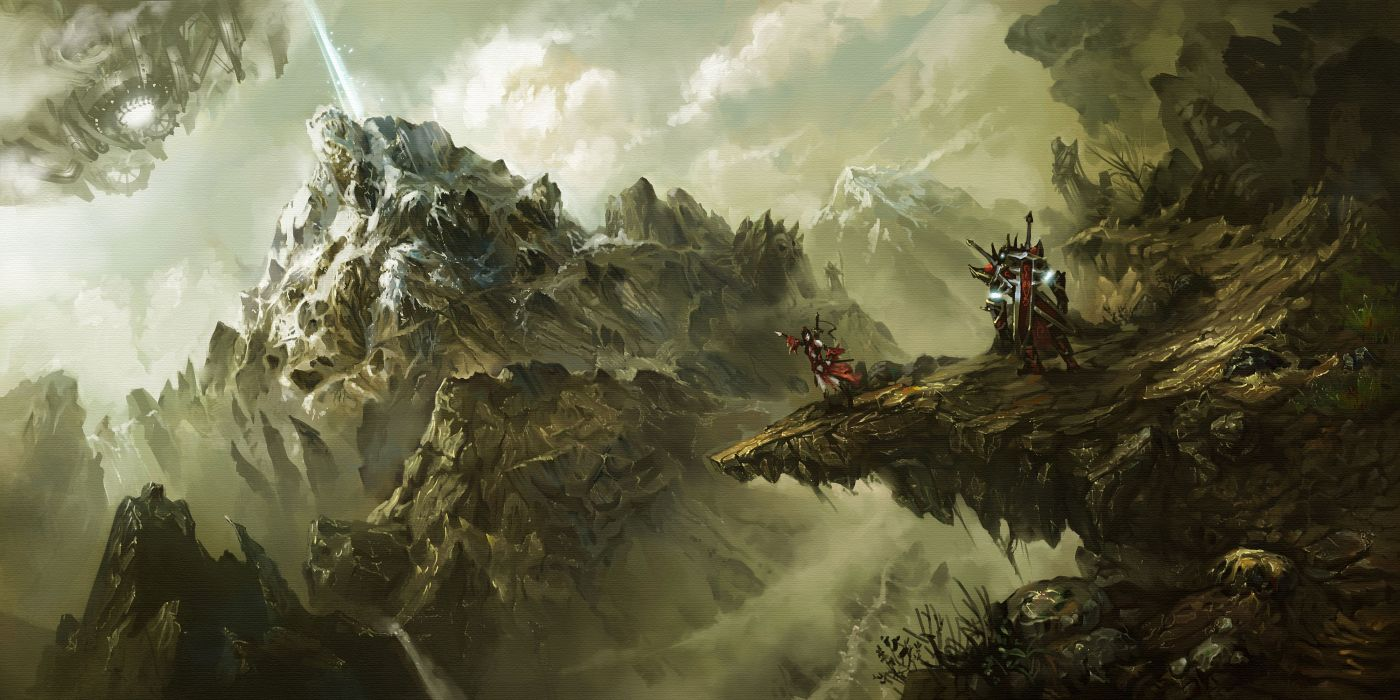World of Legend Mountains Warrior Crag Games Fantasy sci-fi wallpaper
