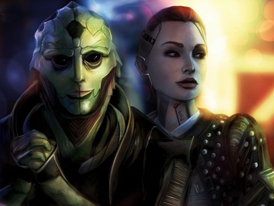 Mass Effect Aliens Games Girls alien sci-fi warrior wallpaper