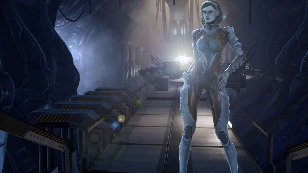 Mass Effect Aliens Games Girls sci-fi alen cyborg wallpaper