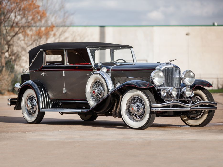 1929 Duesenberg Model-J 103-2127 Convertible Berline LWB LeBaron luxury retro   fs wallpaper