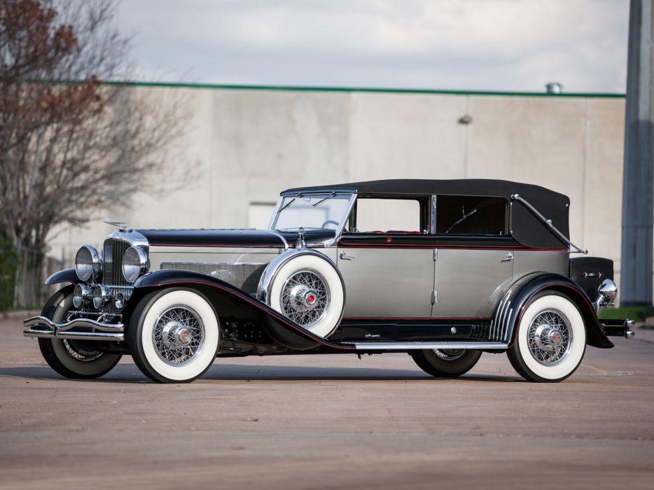 1929 Duesenberg Model-J 103-2127 Convertible Berline LWB LeBaron luxury retro wallpaper
