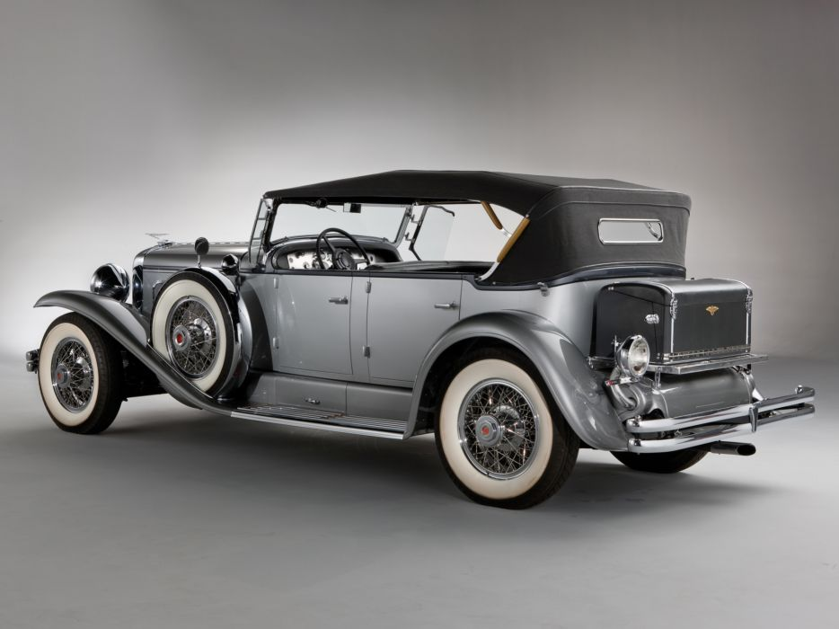 1929 Duesenberg Model-J 116-2136 Dual Cowl Phaeton SWB Derham retro luxury    g wallpaper
