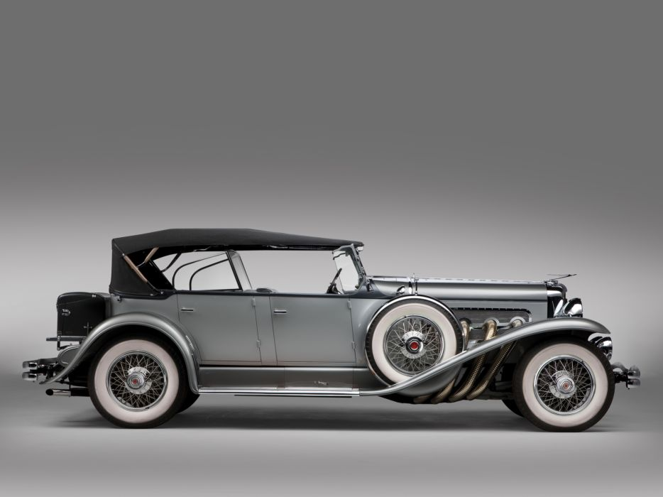 1929 Duesenberg Model-J 116-2136 Dual Cowl Phaeton SWB Derham retro luxury    g wallpaper