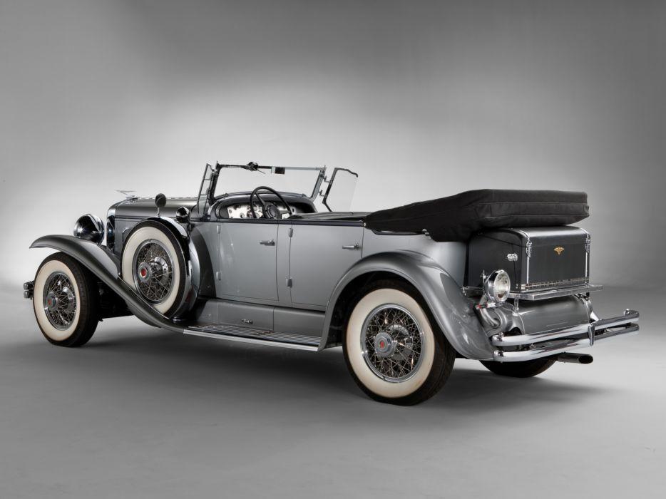 1929 Duesenberg Model-J 116-2136 Dual Cowl Phaeton SWB Derham retro luxury   gs wallpaper