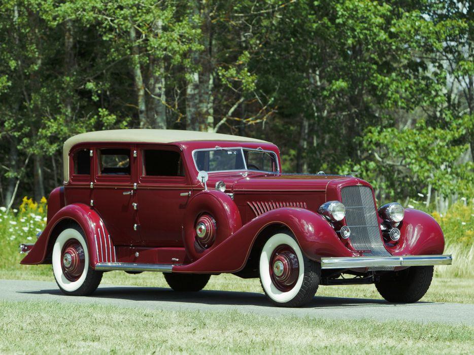 1929 Duesenberg Model-J 119-2144 Sedan SWB Derham luxury retro wallpaper