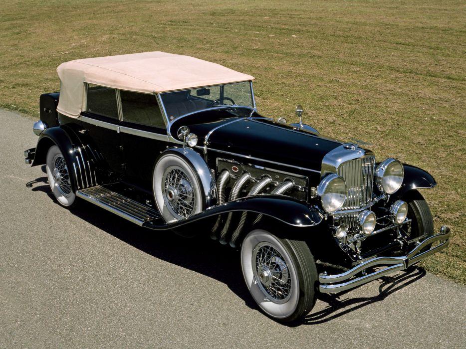 1929 Duesenberg Model-J 355-2225 Convertible Sedan SWB Murphy luxury retro gg wallpaper
