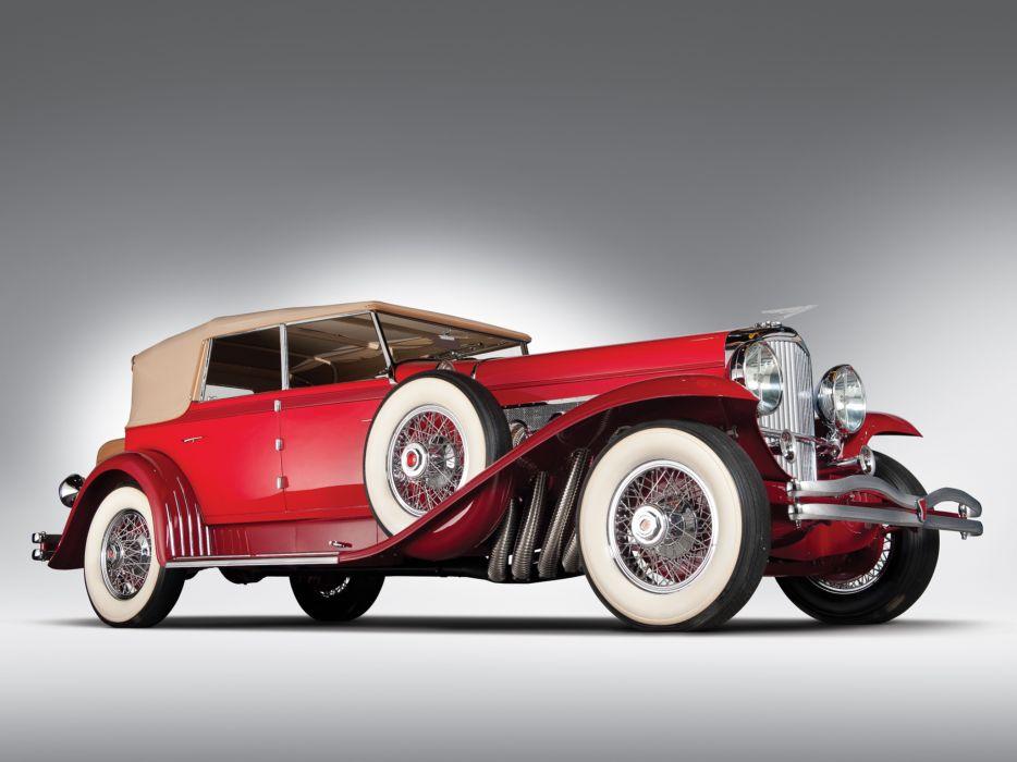 1930 Duesenberg Model-J 208-2228 Convertible Sedan SWB Murphy luxury retro wallpaper