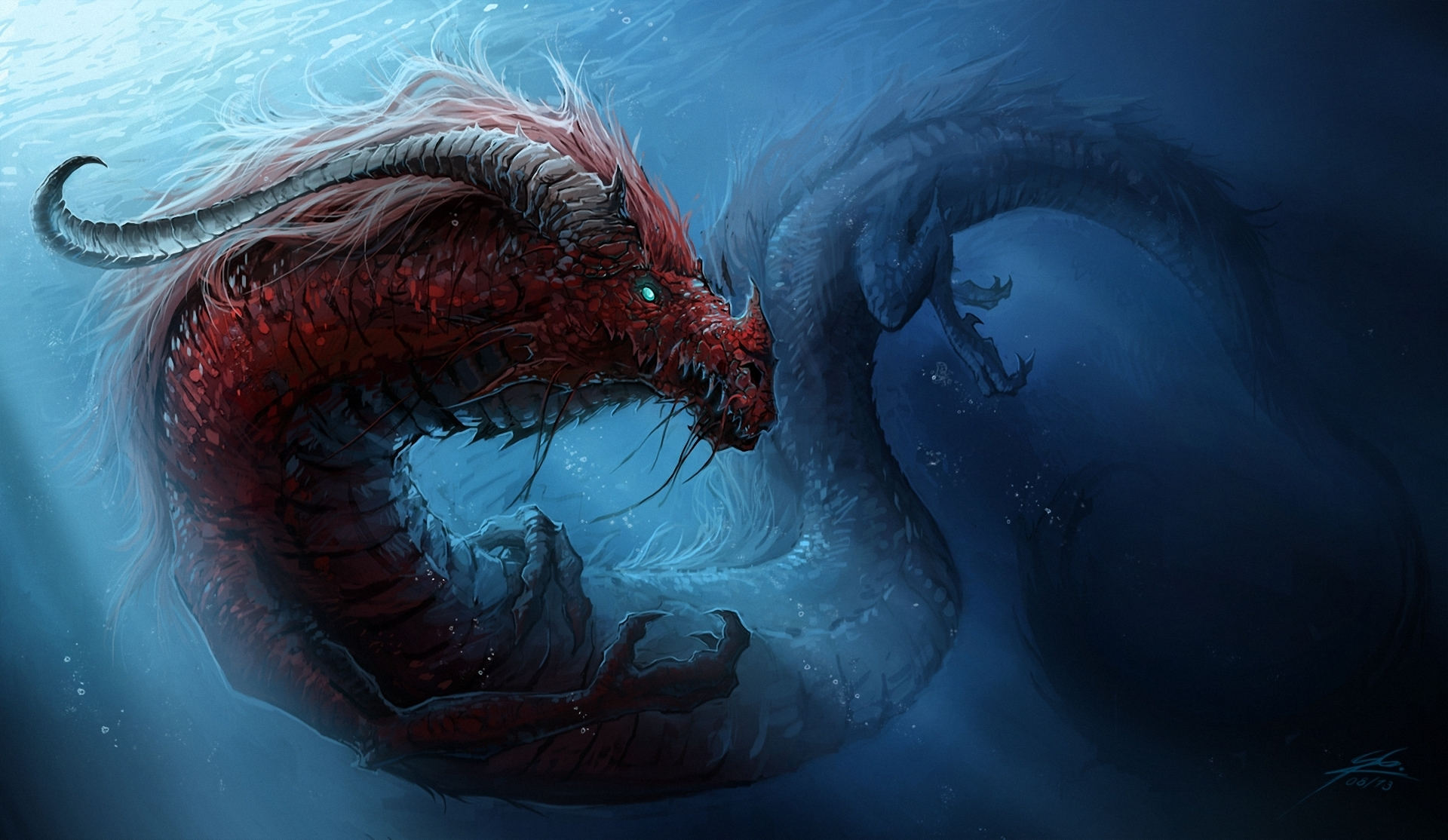 Dragons Underwater World Chinese Dragon Wallpaper