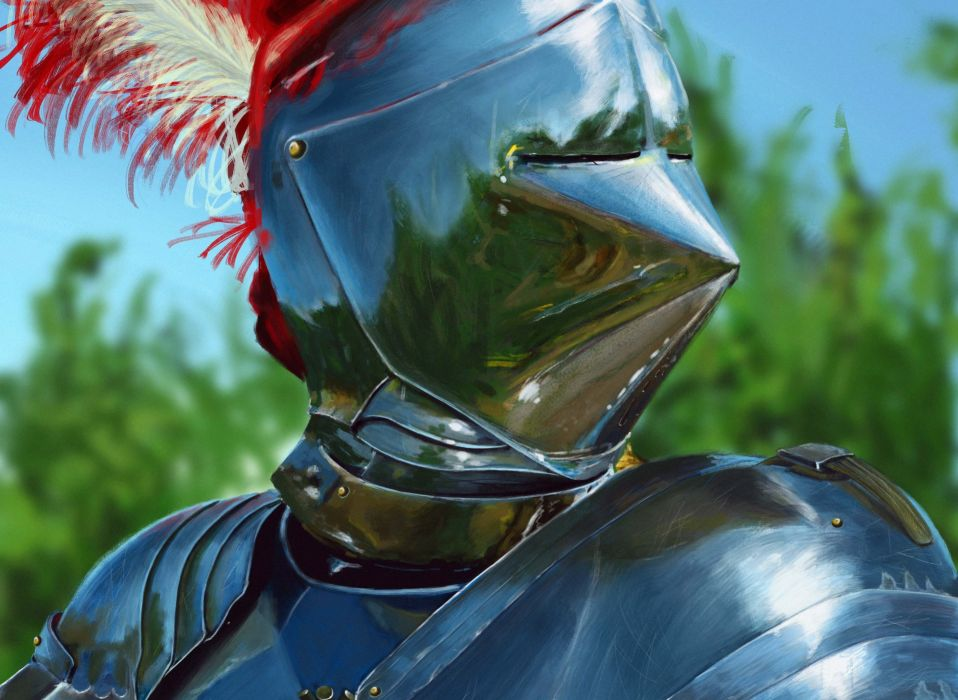 Middle Ages Closeup Armor Helmet knight warrior wallpaper