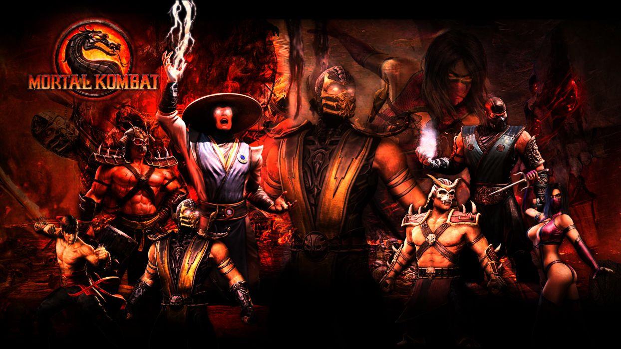 Mortal Kombat Warriors Men Ninja Games Warrior Wallpaper