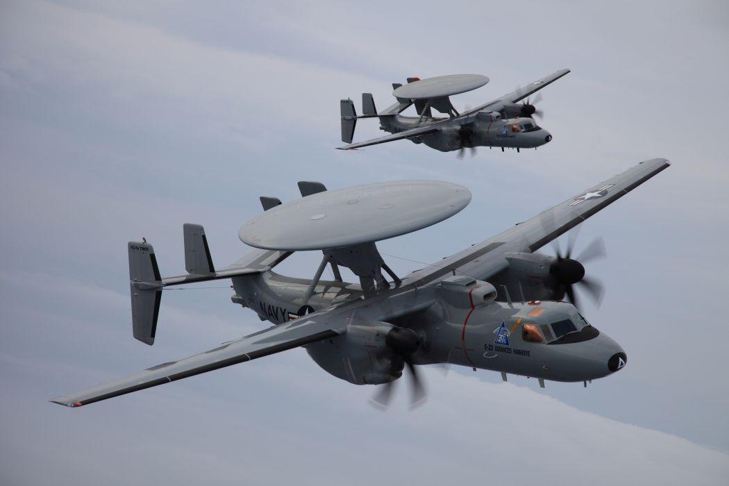 northrop grumman e-2d advanced hawkeye AWACS aircraft military wallpaper