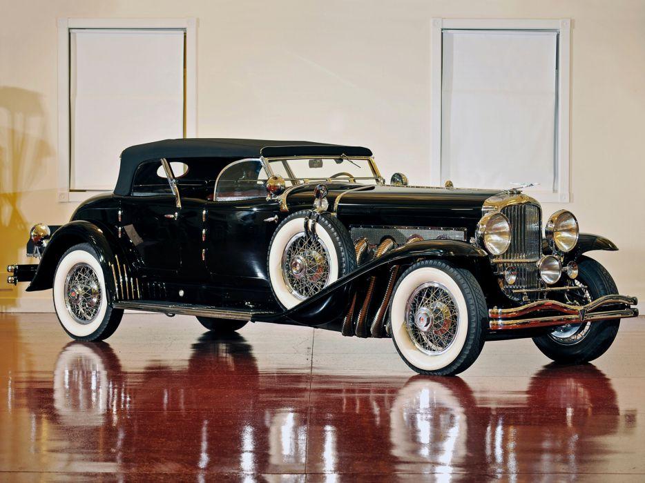 1930 Duesenberg Model-J 255-2276 Torpedo Phaeton Roxas LaGrande luxury retro wheel     f wallpaper