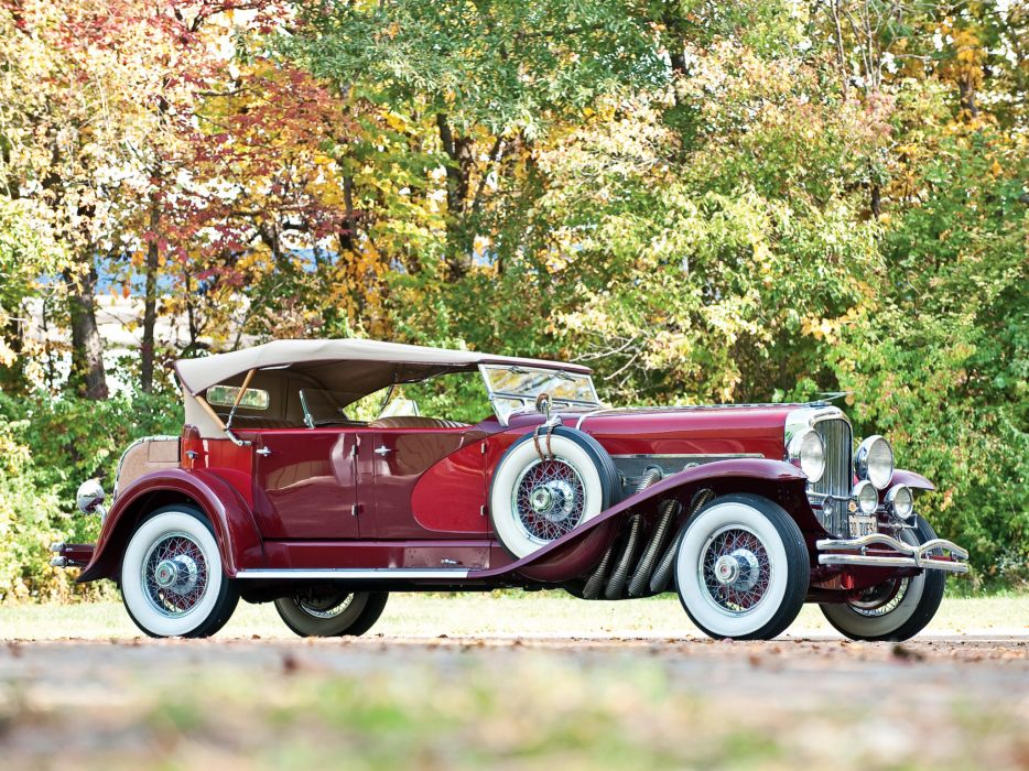 1930 Duesenberg Model-J 237-2257 Dual Cowl Phaeton LWB Derham luxury retro wheel   g wallpaper