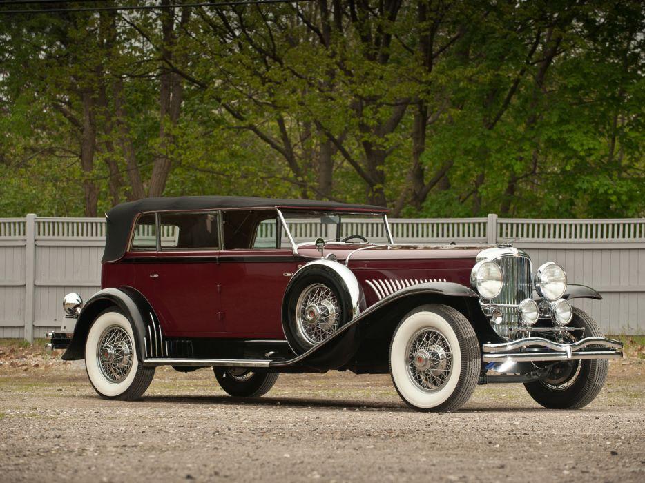 1930 Duesenberg Model-J 288-2307 Convertible Berline LWB Murphy luxury retro wallpaper