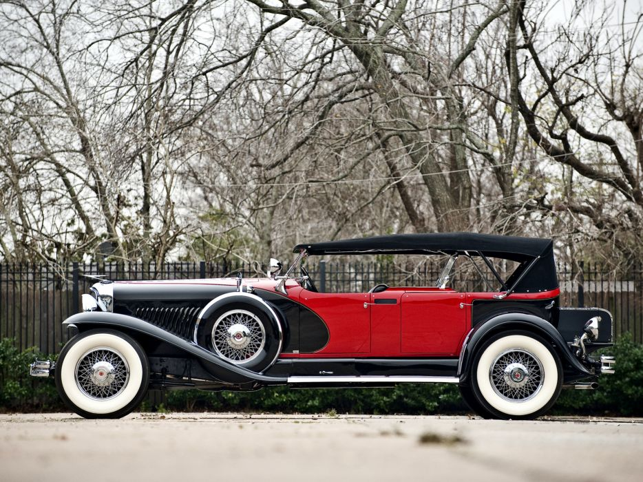 1930 Duesenberg Model-J 487-2336 Dual Cowl Phaeton LWB LeBaron convertible luxury retro   f wallpaper