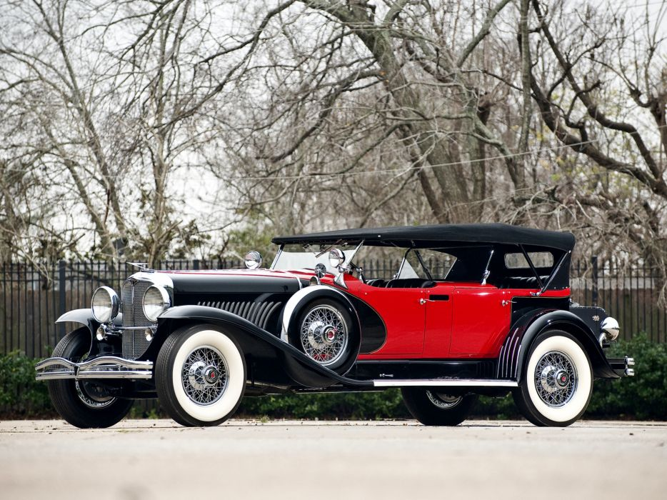 1930 Duesenberg Model-J 487-2336 Dual Cowl Phaeton LWB LeBaron convertible luxury retro   g wallpaper