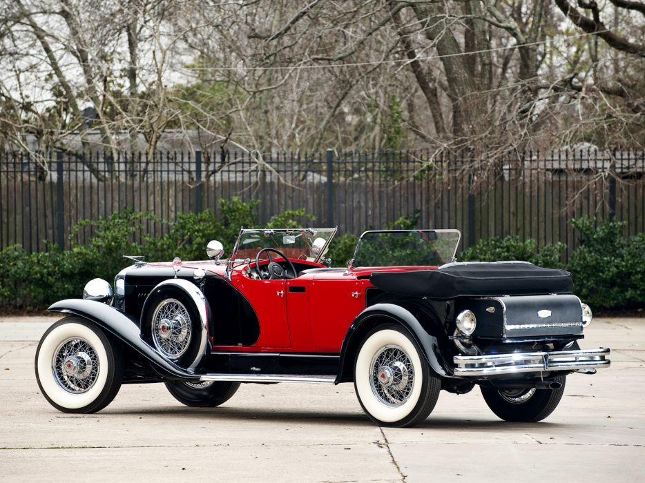 1930 Duesenberg Model-J 487-2336 Dual Cowl Phaeton LWB LeBaron convertible luxury retro  jd wallpaper