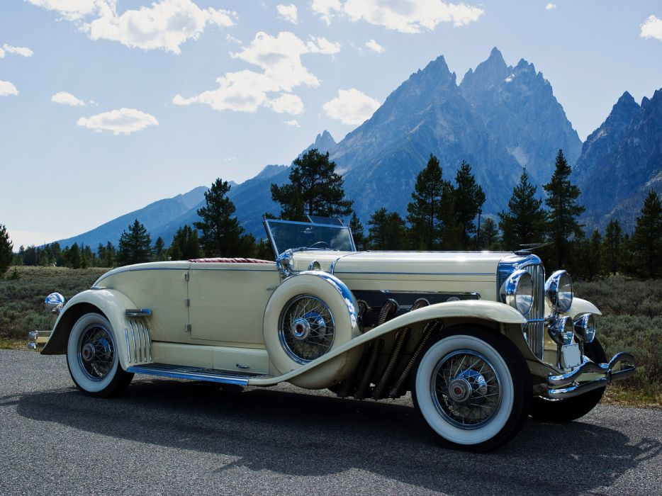 1931 Duesenberg Model-J 401-2410 Convertible Coupe SWB Murphy luxury retro   g wallpaper