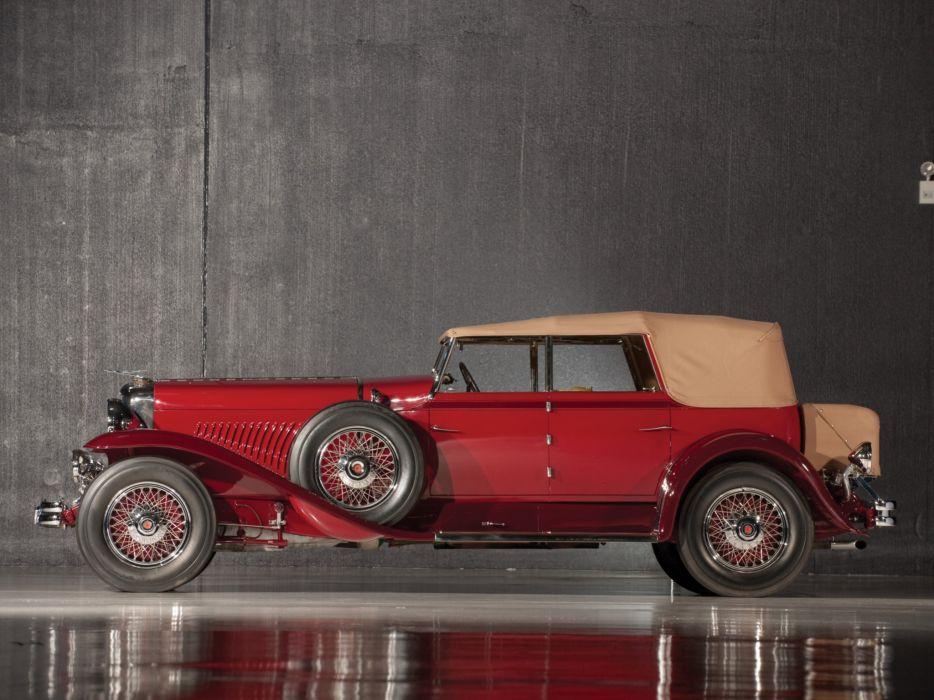 1931 Duesenberg Model-J 420-2363 Convertible Sedan SWB Murphy luxury retro wheel wallpaper