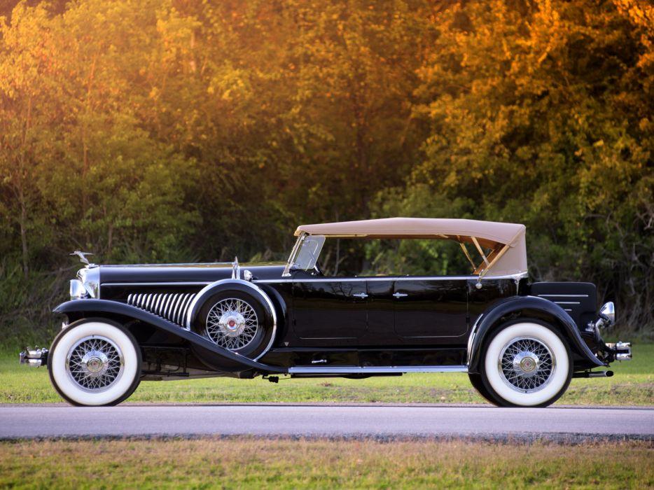 1931 Duesenberg Model-J 444-2456 Tourster LWB Derham convertible luxury retro   g wallpaper