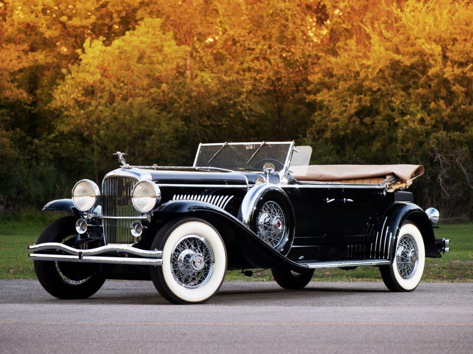 1931 Duesenberg Model-J 444-2456 Tourster LWB Derham convertible luxury retro wallpaper