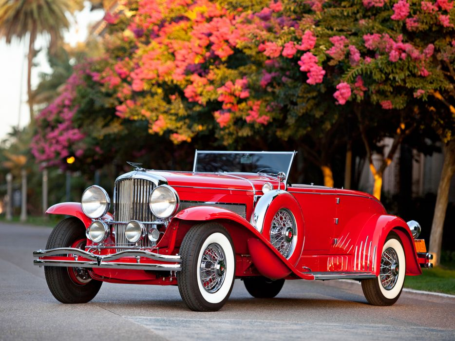 1932 Duesenberg Model-J 284-2310 Convertible Coupe SWB Murphy luxury retro wallpaper