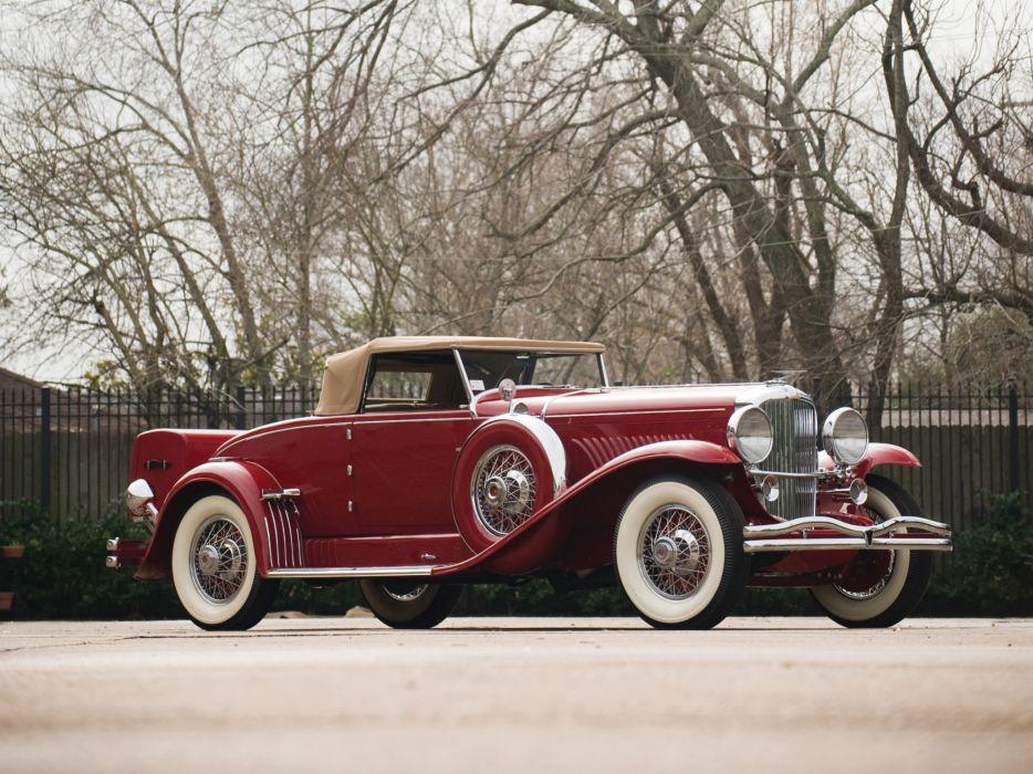 1932 Duesenberg Model-J 340-2364 Convertible Coupe SWB Murphy luxury retro wallpaper