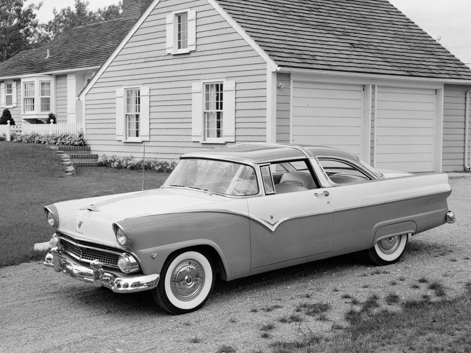 1955 Ford Fairlane Crown Victoria Coupe 64A retro    g wallpaper