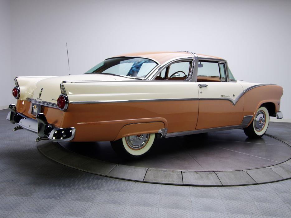 1955 Ford Fairlane Crown Victoria Coupe 64A retro    hy wallpaper