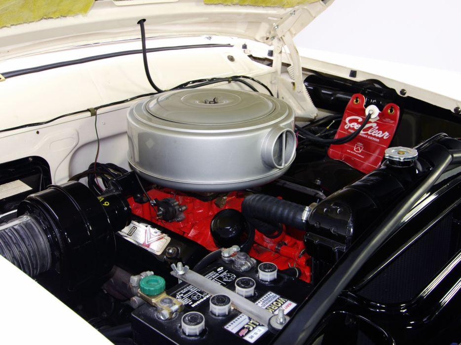 1955 Ford Fairlane Crown Victoria Coupe 64A retro engine       g wallpaper