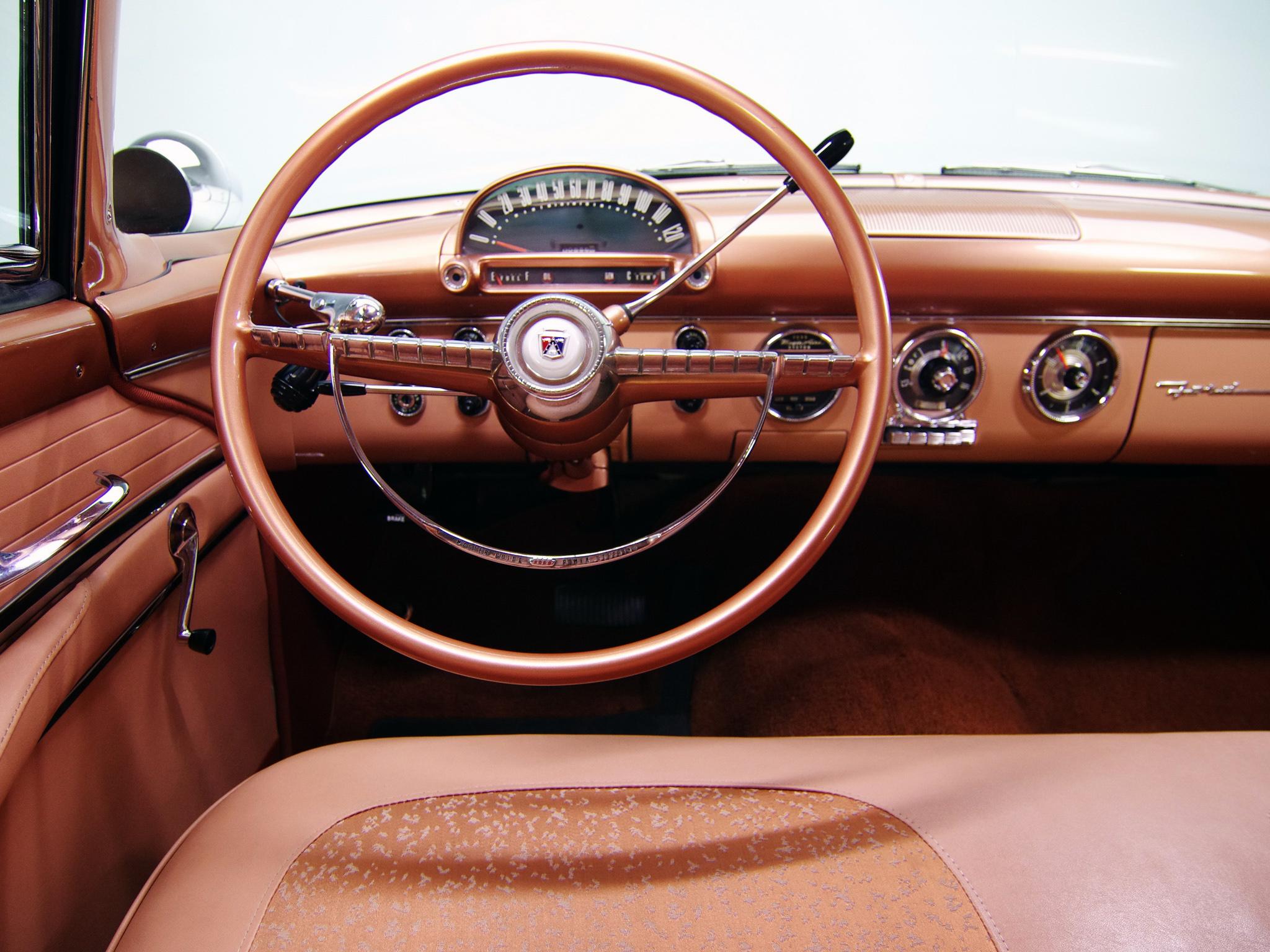 1955 ford fairlane crown victoria coupe 64a retro interior y wallpaper 2048x1536 134086 wallpaperup