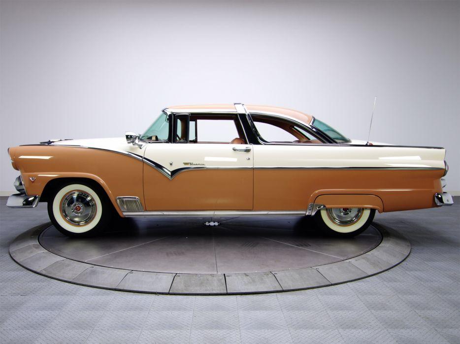 1955 Ford Fairlane Crown Victoria Coupe 64A retro   j wallpaper