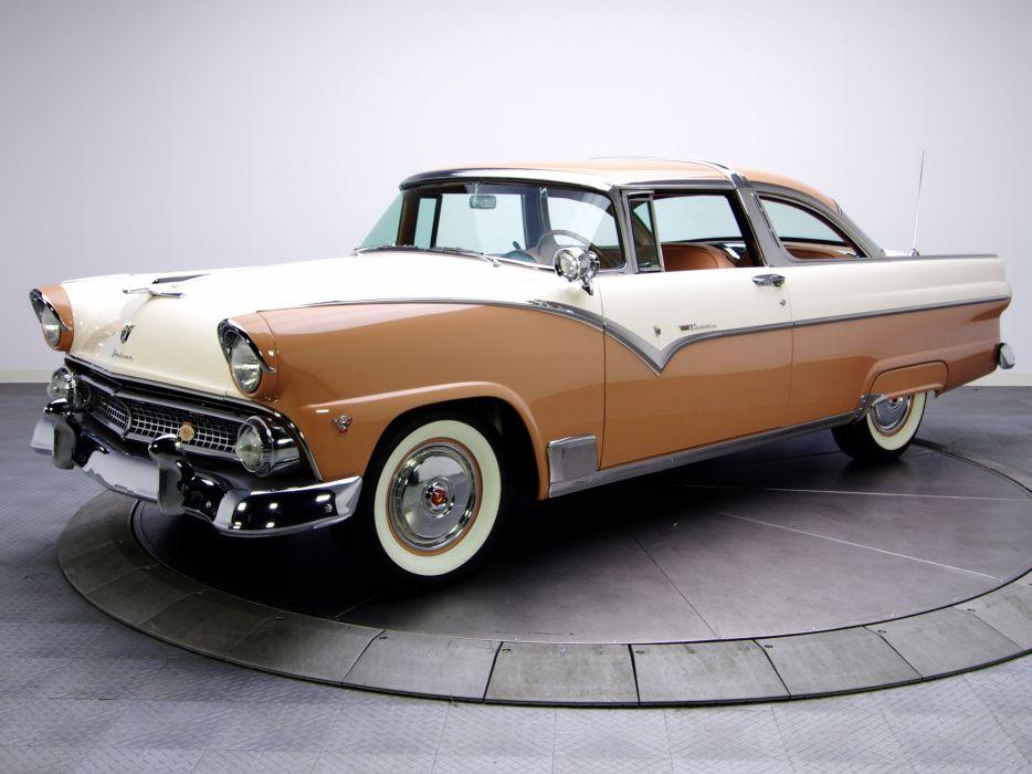 1955 Ford Fairlane Crown Victoria Coupe 64A retro n wallpaper