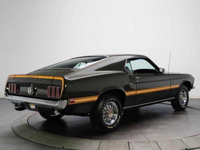 1969 Mustang Mach 1 428 Super Cobra Jet mach-1 muscle classic ge wallpaper