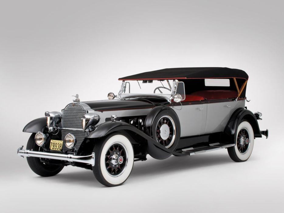 1930 Packard Deluxe Eight Phaeton 745-421 luxury retro wallpaper