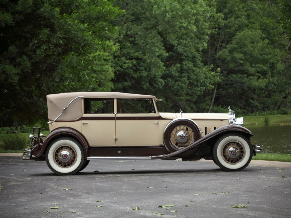1931 Packard Eight Individual Custom Convertible Sedan Dietrich 840 luxury retro    h wallpaper