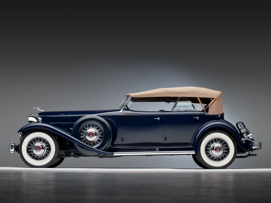 1932 Packard Individual Custom Eight Sport Phaeton Dietrich 904-2069 luxury retro   hj wallpaper