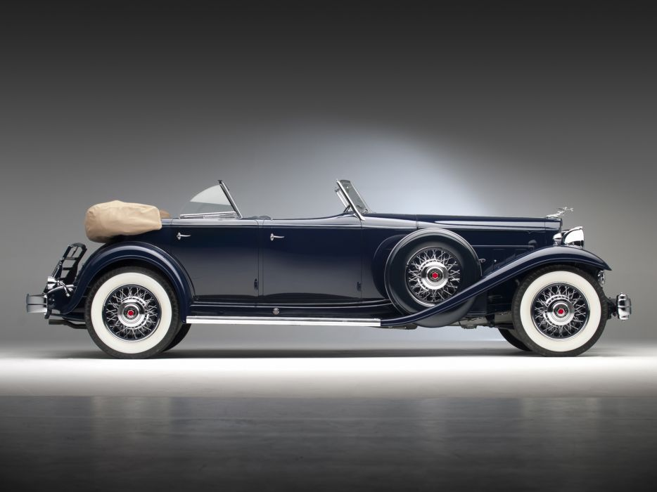 1932 Packard Individual Custom Eight Sport Phaeton Dietrich 904-2069 luxury retro   g wallpaper