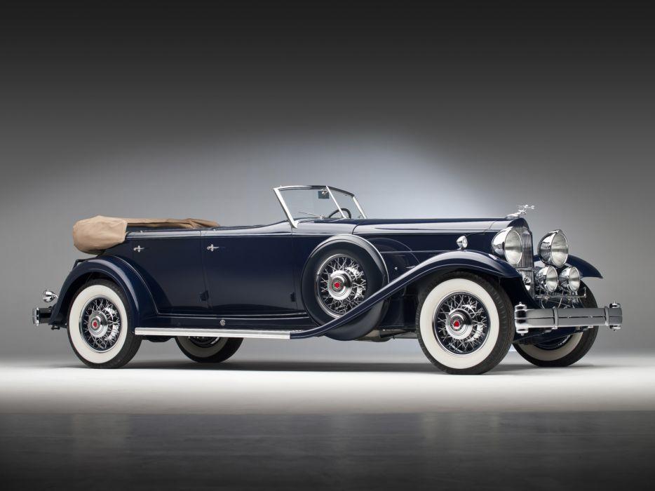 1932 Packard Individual Custom Eight Sport Phaeton Dietrich 904-2069 luxury retro   k wallpaper
