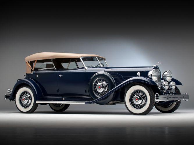 1932 Packard Individual Custom Eight Sport Phaeton Dietrich 904-2069 luxury retro wallpaper
