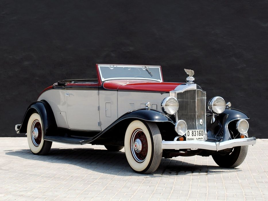 1932 Packard Light Eight Coupe Roadster 900-559 luxury retro wallpaper