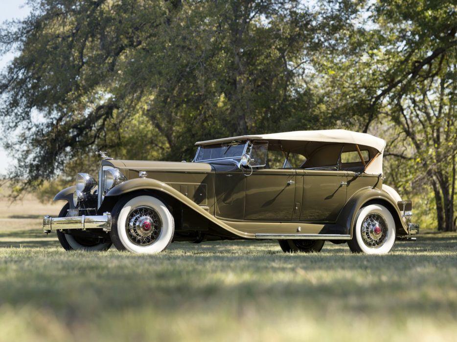 1932 Packard Twin Six Sport Phaeton 905-581 luxury retro wallpaper