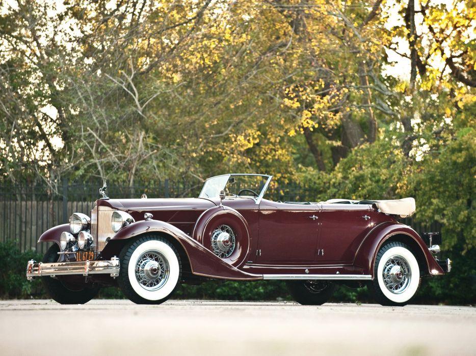 1933 Packard Custom Twelve Sport Phaeton Dietrich 1006-3069 luxury retro     hh wallpaper