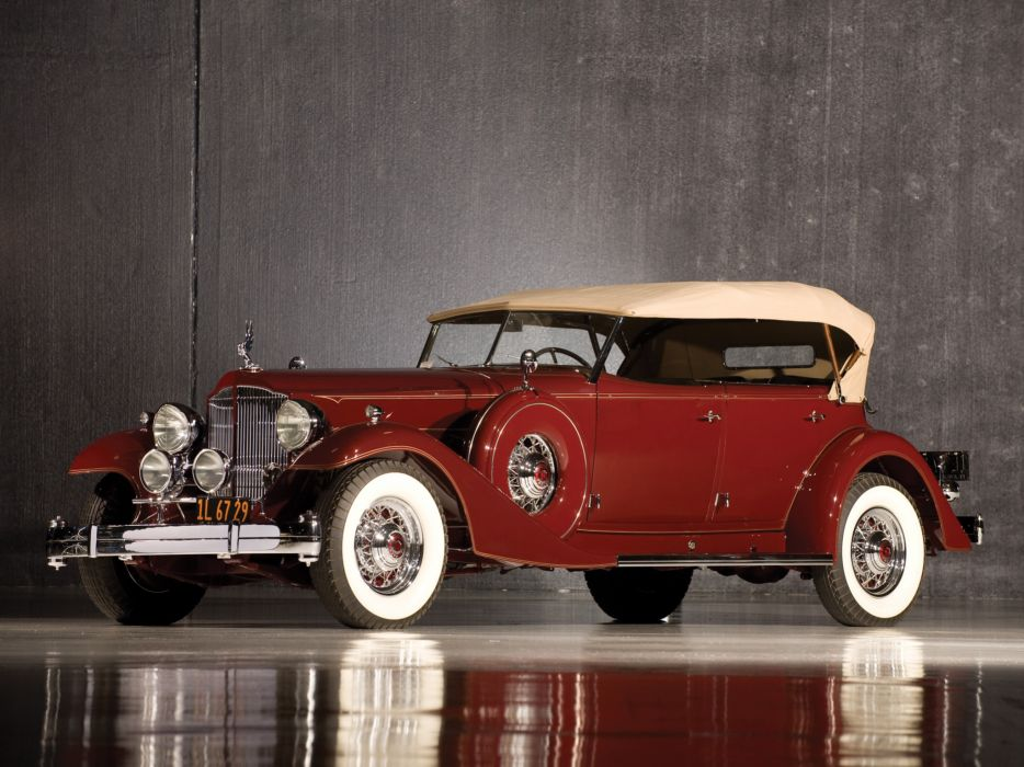 1933 Packard Custom Twelve Sport Phaeton Dietrich 1006-3069 luxury retro    hd wallpaper