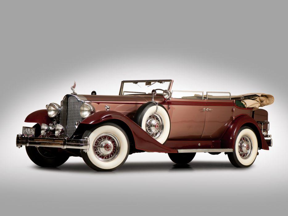 1933 Packard Twelve Convertible Sedan 1005-640 luxury retro     h wallpaper