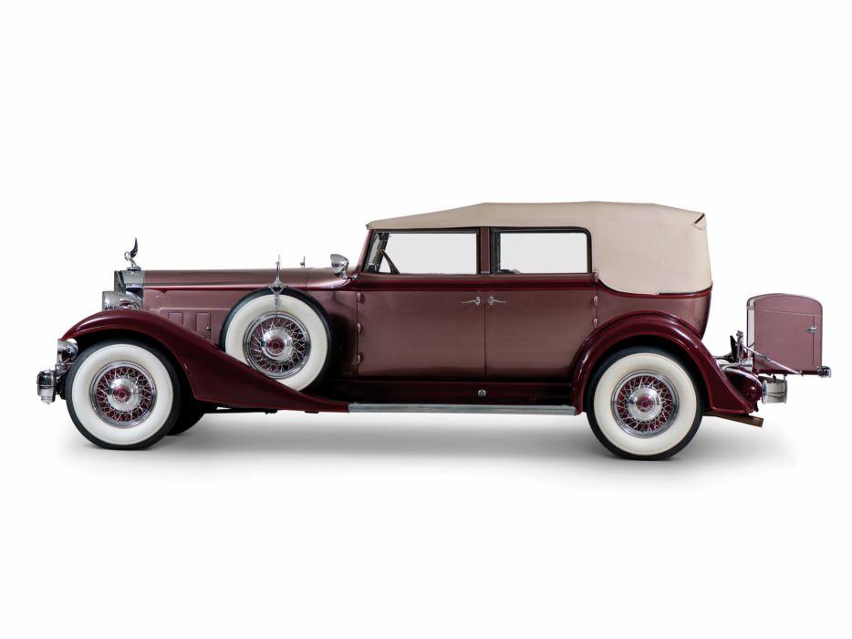 1933 Packard Twelve Convertible Sedan 1005-640 luxury retro   g wallpaper