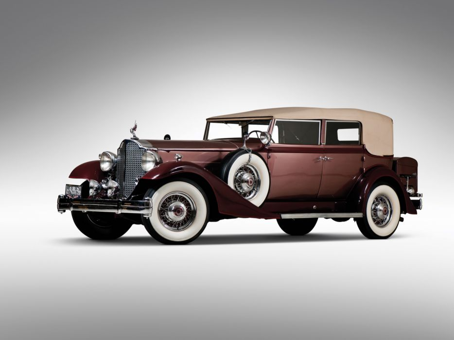 1933 Packard Twelve Convertible Sedan 1005-640 luxury retro wallpaper