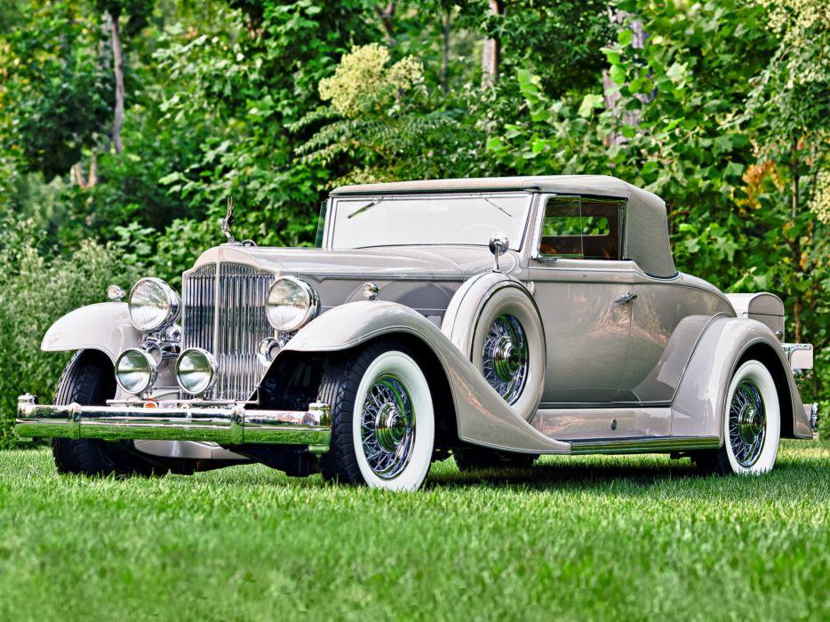 1933 Packard Twelve Coupe Roadster 1005-639 luxury retro wallpaper